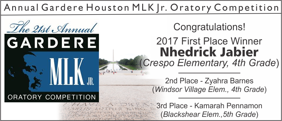 2017 MLK Jr Oratory Competition Winners